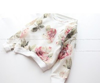 Wholesale 2014 Spring Children Girls Flowers Printed Chiffon Cover Pullovers Princess Floral Kids Tees Shirts B2569