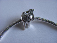 Wholesale 925 silver beads for pandora bracelet fit gift Tooth amp bruth charm new