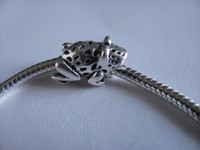 Wholesale 925 silver beads for pandora bracelet fit gift Toad charm new