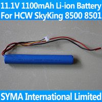 Helicopters Batteries Li-ion Battery 11.1V 1100mAh Li-ion Battery For 91CM Big Large Size HCW Sky King 8500 8501 SKYKING 8500-19 8501-19 RC Radio Remote Control Helicopter Parts