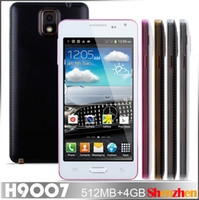 Wholesale MTK6572 Note iii H9007 Leather back cover Dual Core android with inch IPS Screen GHz G Smartphone cell phone