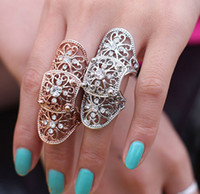 Wholesale Rings Retro ring fashion crystal ring punk style queen skull rings rhinestones rings personalized jewelry women s ring Best gift free ship