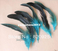 Wholesale 100Pcs New Blue Color Pheasant Feathers for DIY Craft Mask Hat Millinery Decor