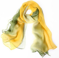 Wholesale Free EMS Autumn and Winter Scarf For Women Solid Candy Color Silk Fluid All match Pleated Female Scarf L516