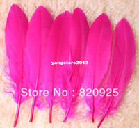 April Fool's Day Goose Feather YM15 Free Shipping 100X Pink Color Goose Feather Crafts 10-19cm Wedding Party DIY Jewellery Make