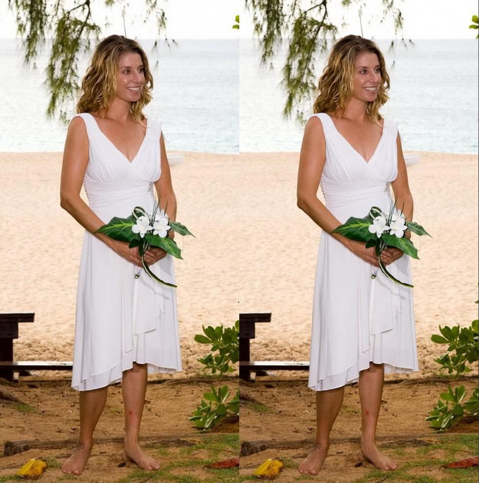 White bridesmaid dresses beach wedding ombrellifo Choice Image