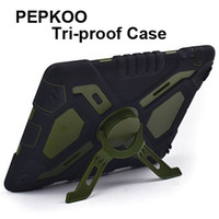 360 Degree Protection air free spider - PEPKOO Spider Stand Case For iPad iPad Air Dirtproof Shockproof Waterproof Multi functional Armor Cover For iPad Mini Retina Free DHL