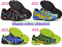 Wholesale 2014 New Arrival Salomon SPEEDCROSS Running shoes outdoor shoes waterproof shoes men s cross country shoes SC M Sneakers SHOES size