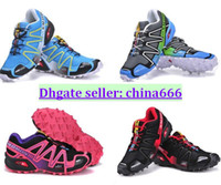 Wholesale WOMEN s Salomon shoes Nordic walking jogging New Arrival Colors Sport alomon Running shoes Sneakers size36 size40
