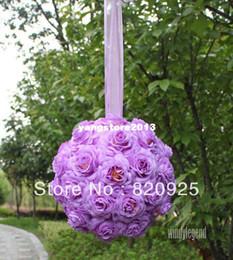 2017 arcs décorations mariage 1 X 8 pouces Lavender Embrasser billes pomander fleurs de mariage Pew Bows Décoration arcs décorations mariage promotion