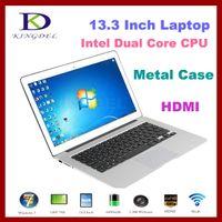 Wholesale 13 quot Super Thin Aluminum Alloy Laptop Notebook with Intel Celeron U Dual Core GB RAM GB SSD WiFi Mini HDMI Webcam