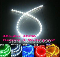 Wholesale 10PCS Waterproof flexible Car LED Strip PVC lights cm PVC
