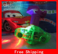 Wholesale Cartoon Pixar Cars Flash Beyblades With Music Lights Lovely Cars Beyblade Xmas Gifts