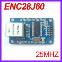 avr ethernet board - 10pcs ENC28J60 LAN Ethernet Network Board Module MHZ Crystal AVR LPC STM32 V