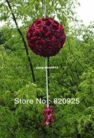 Wholesale 1 X inch Red Kissing Ball Pomander Wedding Party Flowers Crystal Pew Bows
