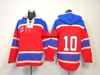 Ice Hockey Men Full Guy Lafleur 10 Canadiens Red New Arrival Canada Hockey Hoodie Athletic Apparel Hockey Hoodie 2014 All Team Players Jackets Hot