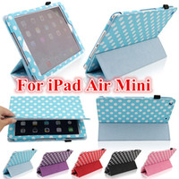 9.7'' For Apple for Ipad mini Polka dot 3 Fold Magnetic Smart Cover Case For iPad Air 5 2 3 4 Mini Mini2 Retina PU Leather Folding Tablet PC Case Sleep Wake 7.9 inch 9.7""