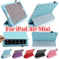 9.7'' For Apple for Ipad 2 Polka dot 3 Fold Magnetic Smart Cover Case For iPad Air 5 2 3 4 Mini Mini2 Retina PU Leather Folding Tablet PC Case With Auto Sleep Wake