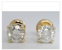 Wholesale SALE ROUND BRILLIANT DIAMOND STUD EARRINGS K CTS