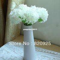 Decorative Flowers & Wreaths beautiful fake flowers - 3Pcs Ivory Beautiful Artificial Hydrangea Bouquet Fake Silk Flowers Home Decoration