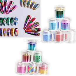 Wholesale 12 Rolls Mix Color Nail Art Transfer Foils Set Dazzle Colour Sticker NI5L