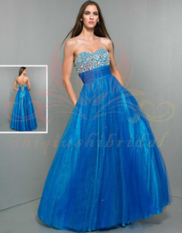 Wholesale Stunning WOW Prom Dress Crystal Sexy Sweetheart Lace up Sleeveless hi low belt Chiffon beading Pleat Formal Evening Dresses Gowns