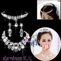 Wholesale High Quality Charming Drop Earring Crown Bridal Tiaras Crystals Rhinestone Wedding Jewelry a68