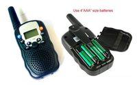 Wholesale T Mini walkie talkie two way radio intercom Channels Monitor Function MHz Built in Flashlight free ship
