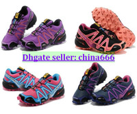 Wholesale 2014 new Salomon III Women Speedcross Runnin Footwear High Quality Outdoor Zapatillas Sneakers Hot Running Shoes Top Cross Country Shoes