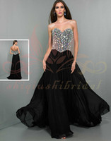 Cheap Sweetheart Stunning WOW Prom Dress Big Crystal sequins a line 2014 Sexy pleat v neck beading pettern Formal Evening Dresses Gowns 2014