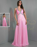 Reference Images Sweetheart Chiffon Halter Stunning WOW Prom Dress beading sequins 2014 Sexy pleat pettern Formal Evening Dresses Gowns 2014