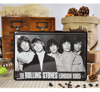 Wholesale 20 cm Vintage Poster The Rolling Stones London Tin Sign Metal Painting Home Decor