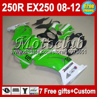 Wholesale 7gifts Tank For Kawasaki Ninja ZX R green white MC108 ZX250R EX EX250 green Fairing