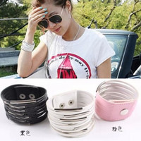 Wholesale 200pcs Multilayer Leather Charm Bracelet Width Bangle Fashion Gourmette Chain Wristband Jewelry