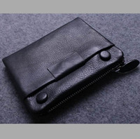Wholesale Fogn trade more with full leather wallet card bit more texture and more delicate soft leather short paragraph men wallet