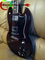 Solid Body angus young guitars - Custom Shop Quality New Style Angus Young SG Electric Guitar Aged Cherry SAVE