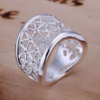Wholesale 925 Sterling Silver Rings Factory Price High Quality Fashion Jewelry Rings silver ring Hollow Ring