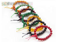 Wholesale Fashion Imitation agate crystal Buddha Bead Bracelets Glass bangle small gifts for woman with colors
