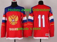 Cheap Online Hockey Shop New Jerseys ,Hockey Gear 11 Malkin Russia 2014 Winter Olympics Hockey Jersey - Red,Long Sleeve Jersey