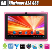 Wholesale Q88 Pro Allwinner A23 inch Tablet PC Android Dual Core Dual CAM Large Battery GHz MB GB Q8 A13 Pro