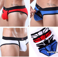 Briefs Sexy Men sexy air open bags panties male penis sheath underwear novelty brand trunk Double Pouch Stretch Penis Enhance Briefs