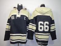 Penguins Mario Lemieux 66 Black 2014 Hockey Jersey Hoodies L...