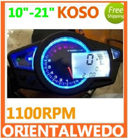 Wholesale KOSO RX1N style1100RPM LED digital speedo speedometer for motorcycle Instruments quot quot top sale latest
