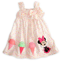 Cheap New arrival Girls Summer Dresses cartoon designer Minnie Mouse Baby Fashion Ice creamPink Girl Dress 5pcslot 80cm-120cm .