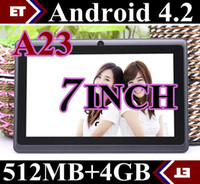 Wholesale DHL Q88 Dual Core Tablet PC Inch Capacitive Screen Android AllWinner A23 Ghz MB RAM GB WIFI Dual Camera MID Colors In Stock