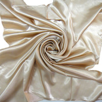 Cheap free shippingLarge square scarf satin satin scarves large square deep beige solid large square scarf