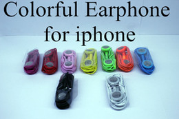 Iphone Earphone Ears Headset 3.5mm with Mic Colorful Earphones for iphone 4 4s Iphone 5 5s for Samsung S4 Note 3