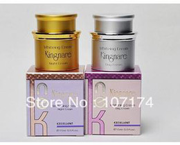 Wholesale EMS sets New package Taiwan Kingnare whitening skin care day cream and night cream