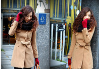 Cheap Wholesale New Women Winter Outwear Denim Women Winter Coats Cashmere Women Coats Long Coat Women Coats Ewwt345