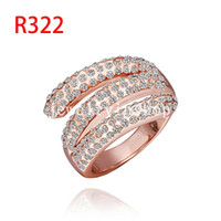 Wholesale Mixed Colorful Swarovski Elements Crystal Ring K gold plated high end fashion boutique Popular jewelry accessories modern temperament Ring